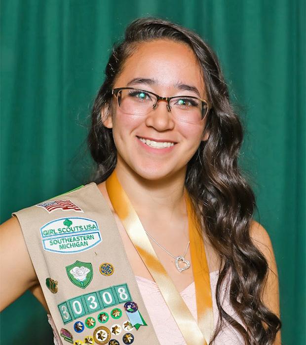 Gold Award Girl Scout Makayla Ramos