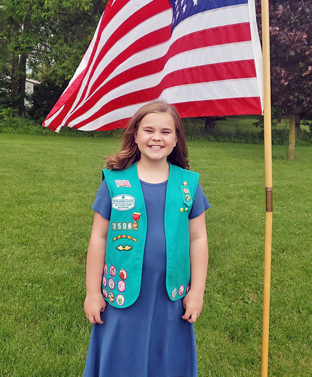 GSSEM Girl Scout Awarded Medal of Honor Lifesaving Award!