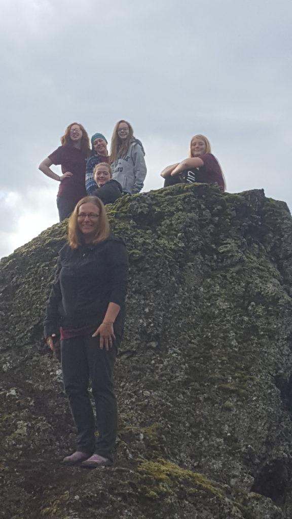 Travel troop goes hiking