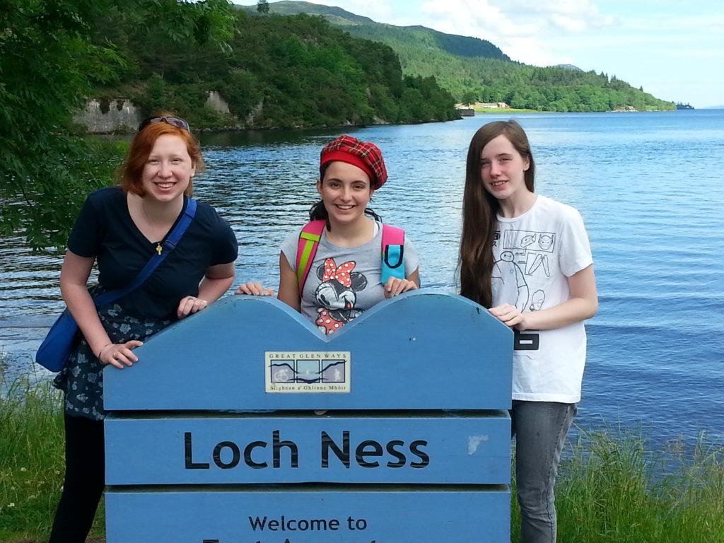 Travel trrop at Loch Ness