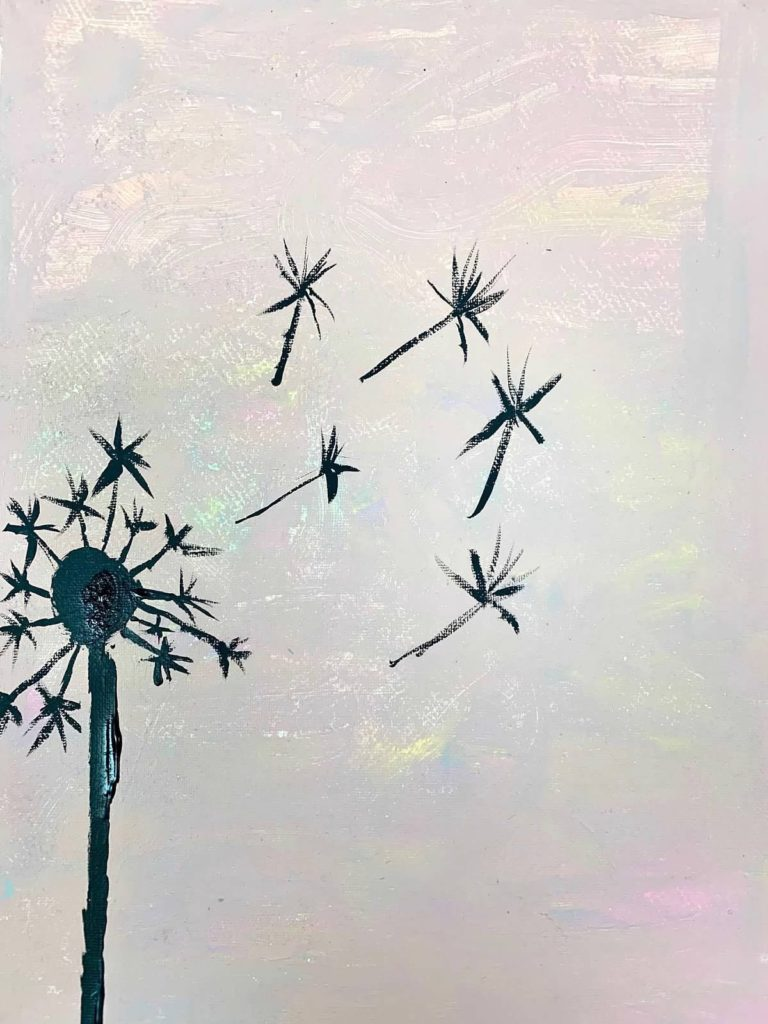dandelion-art-for-hospice-painting