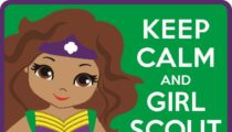 Keep Calm and Girl Scout On Patch Program