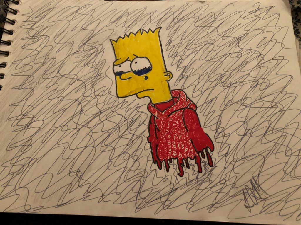 quarantine-diaries-lena-drawing-bart