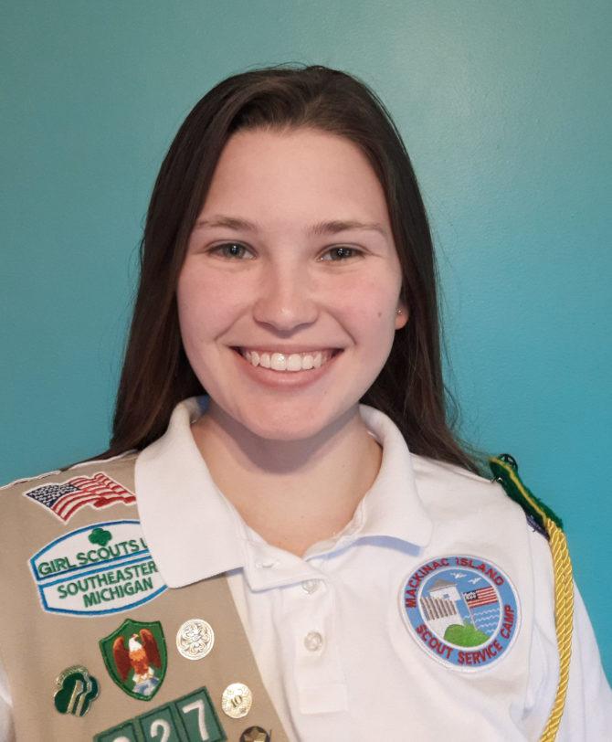 Gold Award Girl Scout Carissa Nelson
