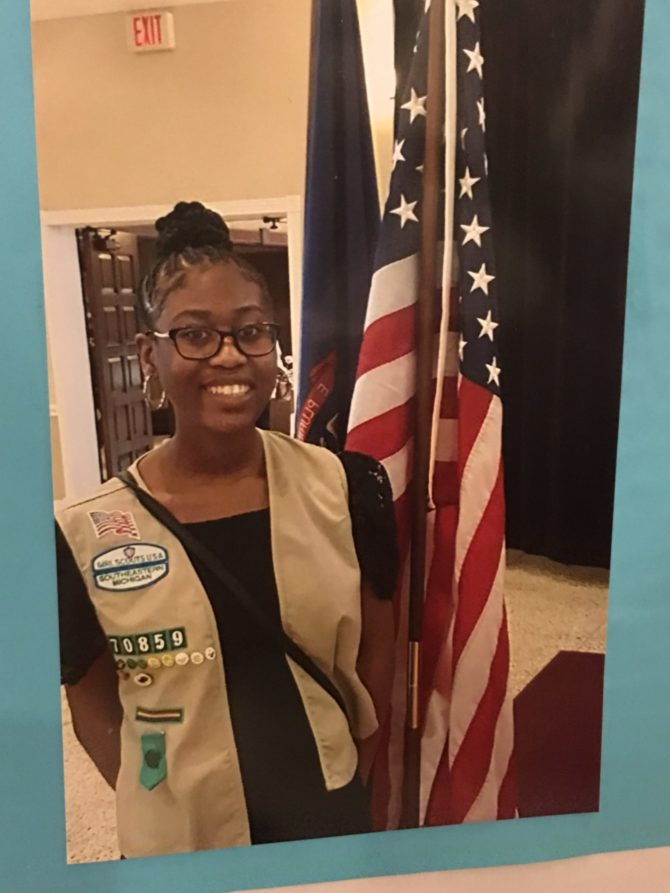 Gold Award Girl Scout Myranda Ivey