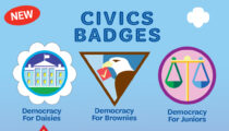 """Earn NEW civics badges and step into your """"presidential"""" shoes!"""