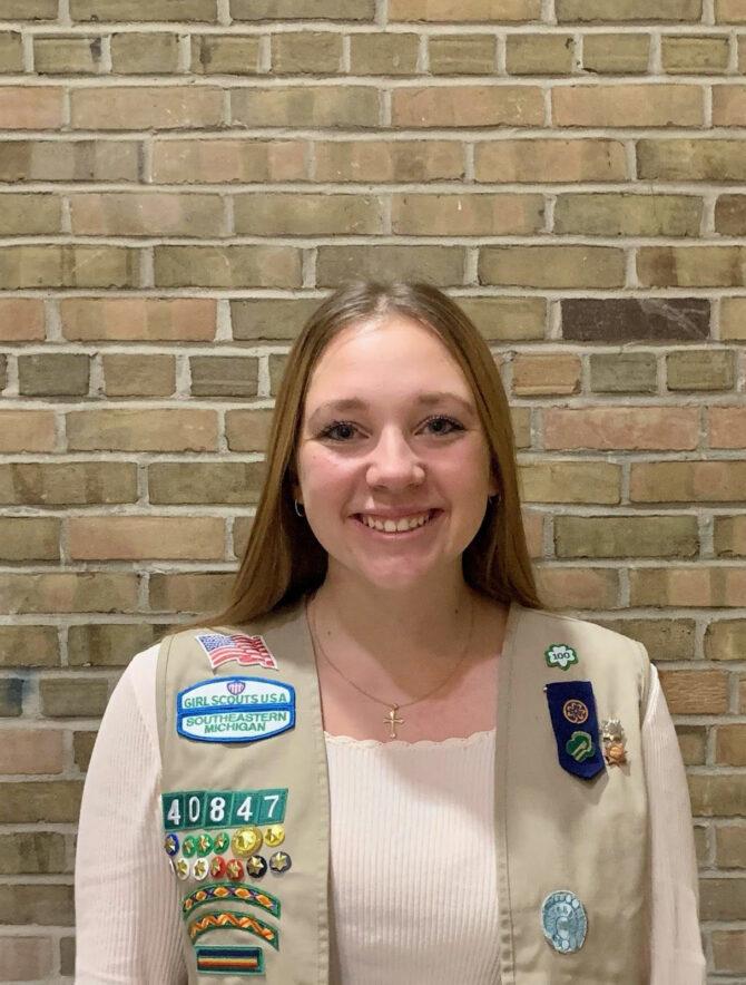 Gold Award Girl Scout Morgan Sieloff